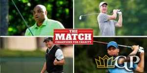Phil Mickelson and Charles Barkley vs. Stephen Curry and Peyton Manning
